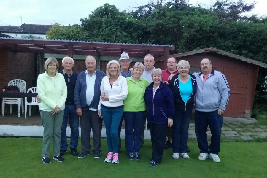 Aughton League Mixed Team 2016 away promoted Crossens Bowling Club