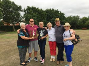 Chairman's Pairs 2018 Winners Gary Burgess Janice Hobso runners up Sue Davies Tony Wakefield